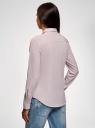 Рубашка приталенная oodji #SECTION_NAME# (розовый), 13K03001-3B/33081/4B10S - вид 3