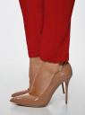 Брюки базовые зауженные oodji для женщины (красный), 11707099-1B/42250/4501N