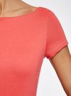 Платье трикотажное с вырезом-лодочкой oodji #SECTION_NAME# (красный), 14001117-2B/16564/4300N - вид 5