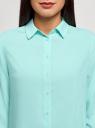 Блузка базовая из вискозы oodji #SECTION_NAME# (бирюзовый), 11411136B/26346/7300N - вид 4