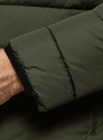 Куртка стеганая с капюшоном oodji #SECTION_NAME# (зеленый), 1B112027M/33743/6600N - вид 5