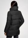 Куртка стеганая с объемным воротником oodji #SECTION_NAME# (черный), 10200079/32754/2900N - вид 3