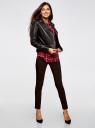 Блузка вискозная с заклепками на карманах oodji для женщины (красный), 13L01001/47352/4579C