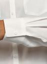 Блузка с нагрудными карманами и регулировкой длины рукава oodji для женщины (белый), 11400355-8B/48458/1200N