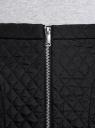 Юбка из фактурной ткани с молнией спереди oodji #SECTION_NAME# (черный), 11600410/38325/2900N - вид 4