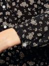 Блузка принтованная из вискозы oodji #SECTION_NAME# (черный), 21412143-1/42127/2933F - вид 5
