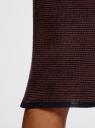 Юбка-карандаш трикотажная в мелкую полоску oodji для женщины (коричневый), 73612026/45910/7939S