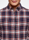 Рубашка хлопковая в клетку oodji #SECTION_NAME# (разноцветный), 3L310149M/47057N/7949C - вид 4