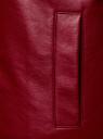 Куртка-бомбер из искусственной кожи oodji для женщины (красный), 18A03005/43585/4900N