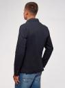 Пиджак приталенный с карманами oodji для мужчины (синий), 2B510007M/48388N/7900N