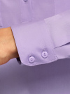 Рубашка базовая с нагрудными карманами oodji #SECTION_NAME# (фиолетовый), 11403222B/42468/8000N - вид 5