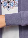 Кардиган трикотажный без застежки oodji #SECTION_NAME# (фиолетовый), 19201004B/48033/7500M - вид 5