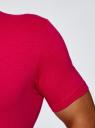 Футболка базовая с V-образным вырезом oodji #SECTION_NAME# (розовый), 5B612002M/39230N/4700N - вид 5