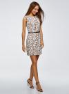 Платье льняное без рукавов oodji #SECTION_NAME# (белый), 12C00002-1B/16009/1231F - вид 6