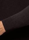 Пуловер базовый с V-образным вырезом oodji #SECTION_NAME# (коричневый), 4B212007M-1/34390N/3900M - вид 5