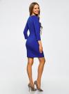 Платье с декоративными молниями принтованное oodji для женщины (синий), 24007024/43121/7500N - вид 3