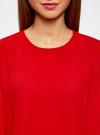 Блузка свободного силуэта с вырезом-капелькой на спине oodji #SECTION_NAME# (красный), 11411129/45192/4500N - вид 4