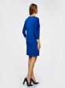 """Платье свободного силуэта с рукавом """"летучая мышь"""" oodji для женщины (синий), 24008311/46064/7500N"""