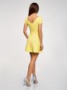 Платье приталенное с V-образным вырезом на спине oodji #SECTION_NAME# (желтый), 14011034B/42588/5001N - вид 3