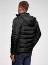 Куртка стеганая с воротником-стойкой oodji #SECTION_NAME# (черный), 1B111005M/48961N/2900N - вид 3
