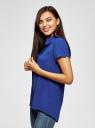 Блузка из вискозы с нагрудными карманами oodji #SECTION_NAME# (синий), 11400391-4B/24681/7500N - вид 2