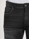 Шорты джинсовые с потертостями oodji #SECTION_NAME# (черный), 6L220021M/47884/2900W - вид 4