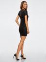 Платье трикотажное с коротким рукавом oodji для женщины (черный), 14011007/45262/2900N