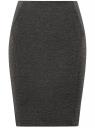 Юбка-карандаш трикотажная oodji для женщины (серый), 14100068-5B/46944/2500M