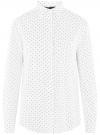 Блузка прямого силуэта с нагрудным карманом oodji #SECTION_NAME# (белый), 11411134B/46123/1229Q