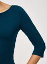 Платье трикотажное базовое oodji #SECTION_NAME# (синий), 14001071-2B/46148/7901N - вид 5
