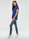 Блузка из вискозы с нагрудными карманами oodji #SECTION_NAME# (синий), 11400391-4B/24681/7500N - вид 6