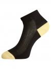 Комплект из трех пар укороченных носков oodji для женщины (разноцветный), 57102418-1T3/47613/9 - вид 4
