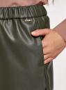 Шорты из искусственной кожи oodji для женщины (зеленый), 18M01004/50434/6800N
