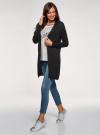 Кардиган удлиненный с карманами oodji для женщины (черный), 63212572/18239/2900N - вид 5