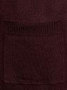 Кардиган без застежки с накладными карманами oodji #SECTION_NAME# (красный), 63212600/48514/4900M - вид 5