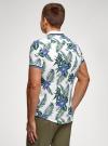 Рубашка принтованная с коротким рукавом oodji #SECTION_NAME# (белый), 5L301004M/46547N/1079F - вид 3