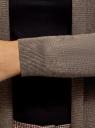 Кардиган вязаный без застежки oodji #SECTION_NAME# (коричневый), 73212398B/45904/3900M - вид 5