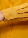 Блузка базовая из вискозы oodji #SECTION_NAME# (желтый), 11411136B/26346/5200N - вид 4