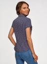 Рубашка хлопковая с коротким рукавом oodji #SECTION_NAME# (синий), 13K01004-3B/48461/7947G - вид 3