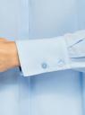 Блузка прямого силуэта из струящейся ткани oodji для женщины (синий), 11411216/36215/7000N