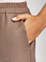 Брюки зауженные на завязках oodji #SECTION_NAME# (коричневый), 11709038-1/49614/3700M - вид 5