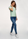 Блузка кружевная с молнией на спине oodji #SECTION_NAME# (зеленый), 11400382-1/24681/6500N - вид 6