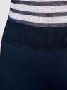 Легинсы трикотажные с широким поясом-резинкой oodji для женщины (синий), 28700009-2B/37854/7901N