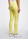 Джинсы-легинсы на эластичном поясе oodji для женщины (желтый), 12104043-7B/46261/6700N
