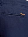 Брюки льняные с завязками oodji #SECTION_NAME# (синий), 2B200003M/44233N/7900N - вид 5