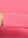 Водолазка укороченная из хлопка oodji для женщины (розовый), 15E11028/50084/4D00N