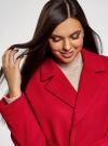 Пальто свободного силуэта с поясом oodji #SECTION_NAME# (красный), 10103034/45628/4500N - вид 4
