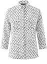 Блузка из струящейся ткани с нагрудными карманами oodji #SECTION_NAME# (белый), 11403225-6B/48853/1229F