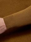 Джемпер базовый с круглым воротом oodji #SECTION_NAME# (коричневый), 4B112003M/34390N/3500M - вид 5