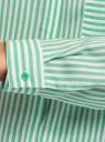 Блузка вискозная с нагрудным карманом oodji для женщины (зеленый), 11401275-1/24681/6C10S